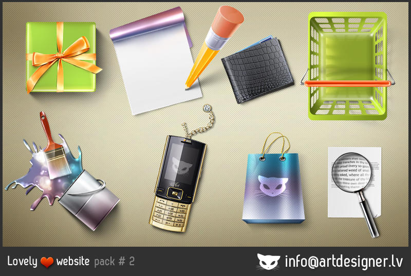 Lovely website icons pack 2 by LazyCrazy