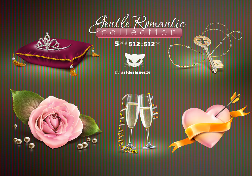 Gentle Romantic icons by LazyCrazy