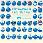 Very Emotional Emoticons by lazymau