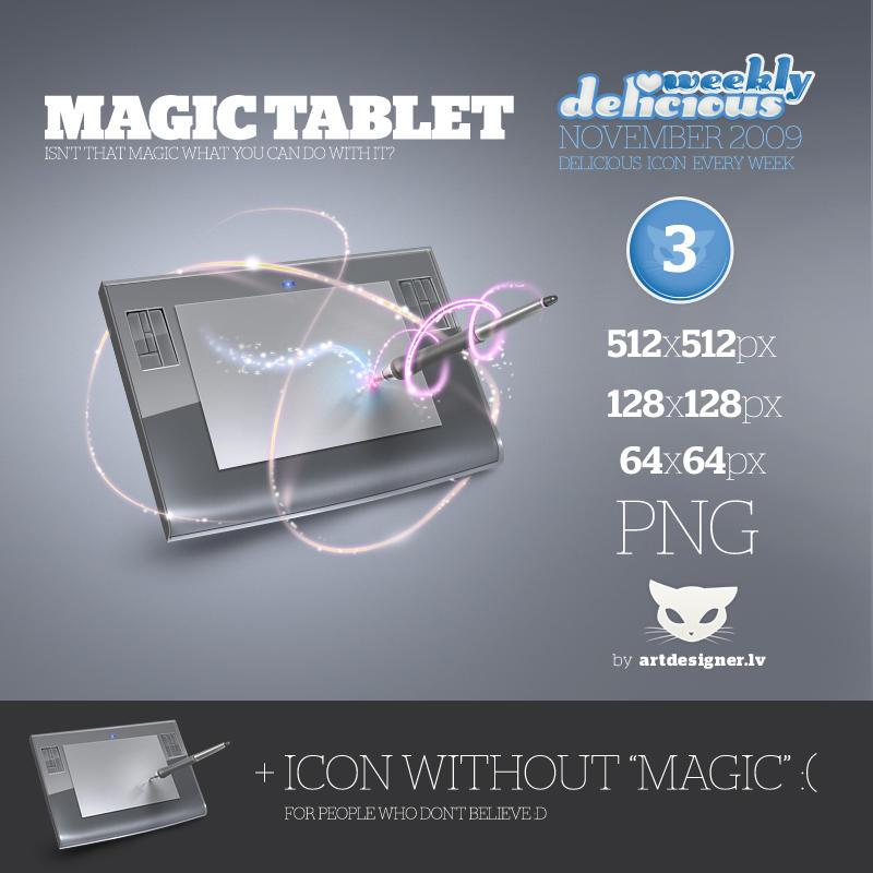 Magic tablet - WD2 by lazymau