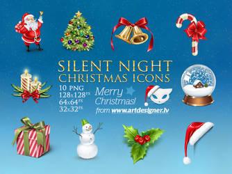 Silent Night Christmas icons by lazymau
