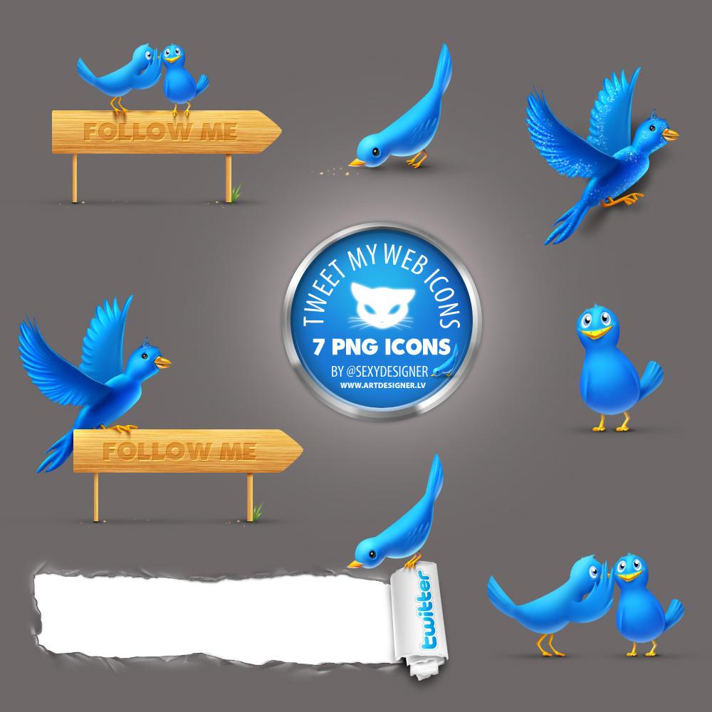 Twitter Icons TweetMyWeb 7 PNG by lazymau