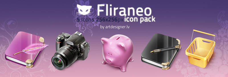 Fliraneo icon pack by lazymau