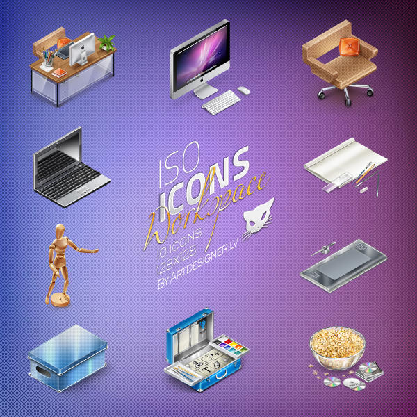 IsoIcons, Workspace