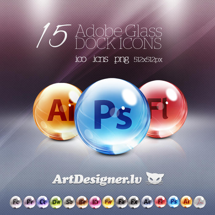 Adobe cs 5 dock icons by LazyCrazy
