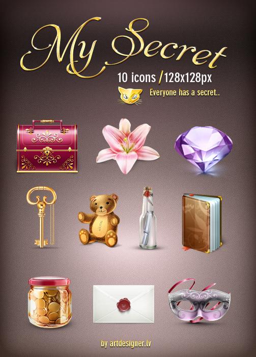 MySecret 10 icons by lazymau