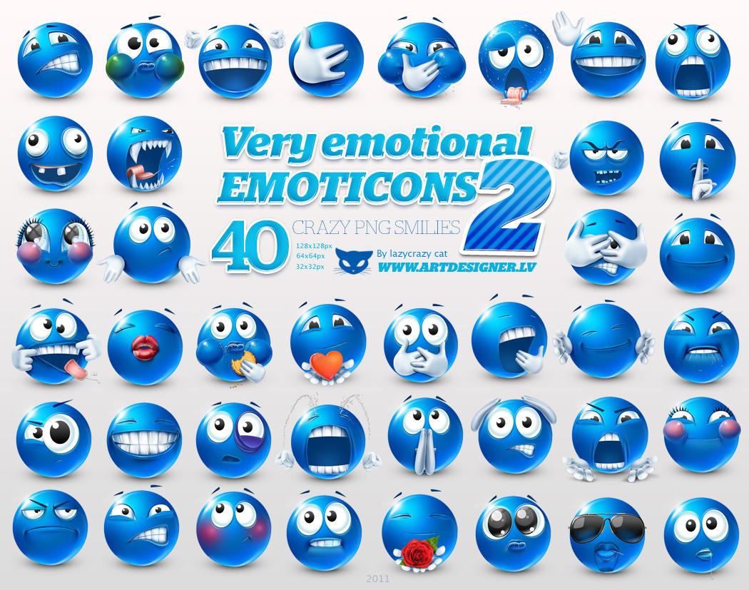 Very emotional emoticons 2 by lazymau