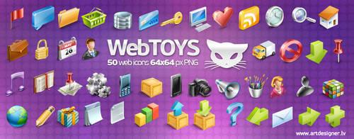 Webtoys 50 icons by lazymau