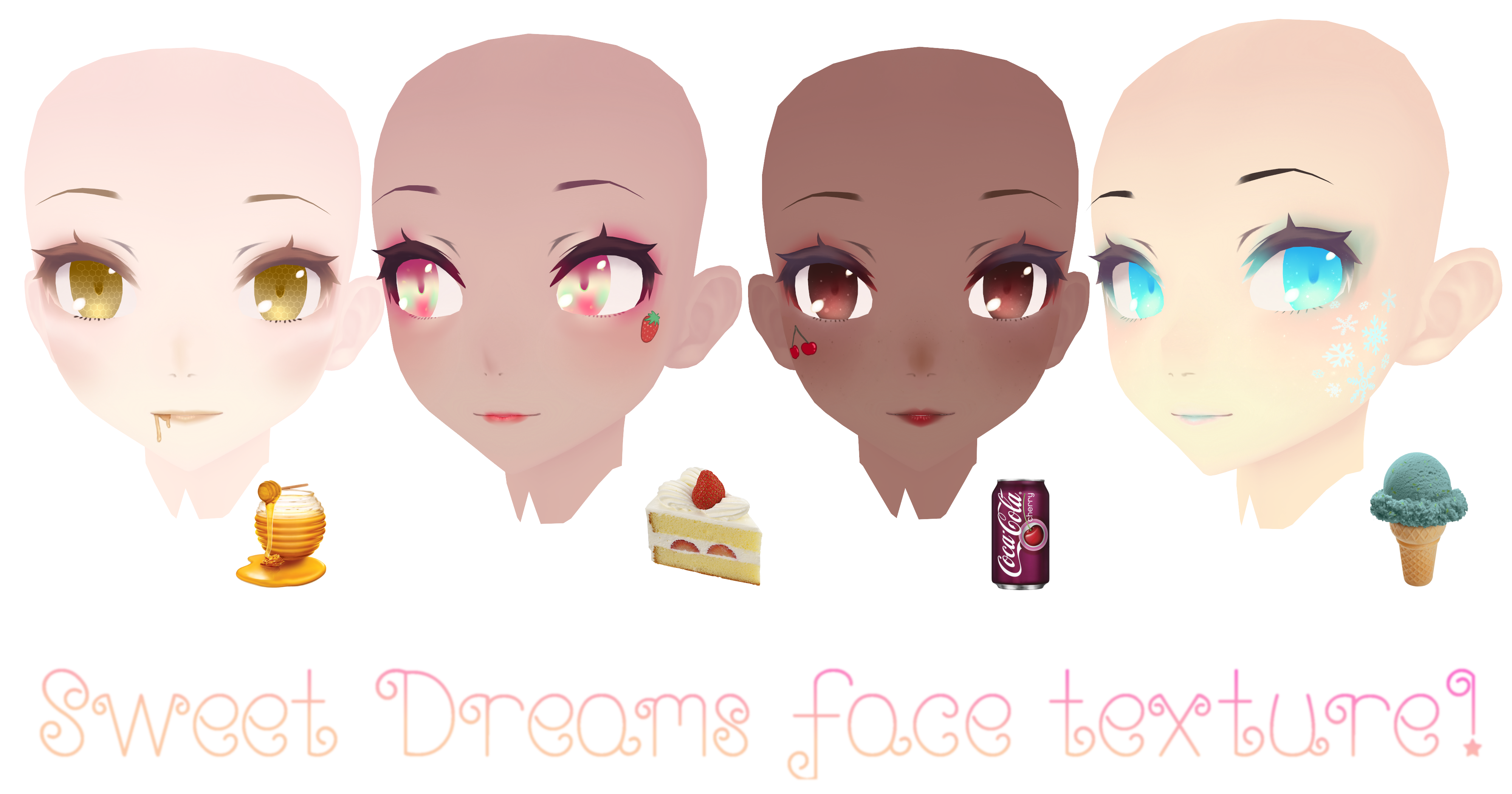 TDA Sweet Dreams face texture DOWNLOAD by Sugatsunee