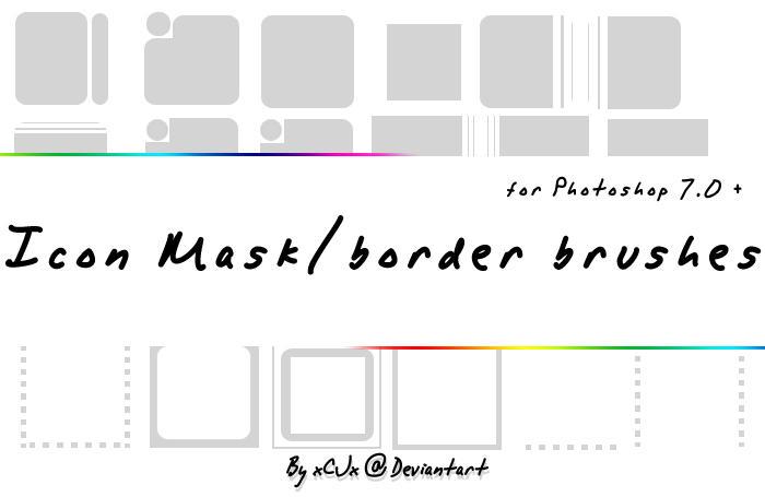 Icon BorderMask brushes by xCJx