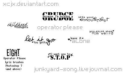 Operator Please lyric brushes