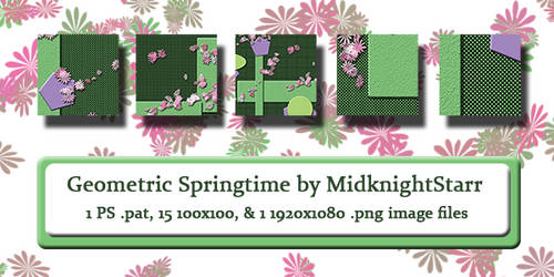 Geometric Springtime Photoshop Patterns