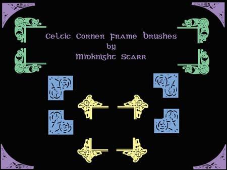 Celtic Corner Frame Brushes by MidknightStarr