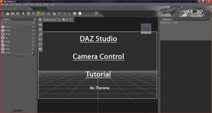 DAZ Studio Camera Tutorial