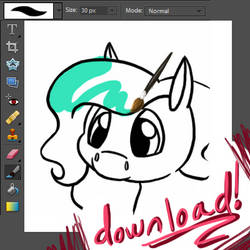 Chibi Horse Lineart Pack 8D