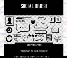 +Social Brush|FREE by ScribedLove
