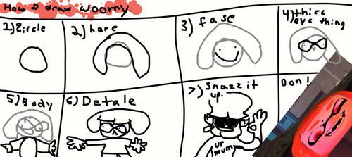 How to draw WOOMY