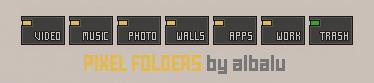 Pixel Folders by albalu