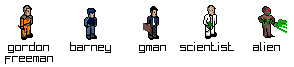 Pixel Half-Life Characters by spad