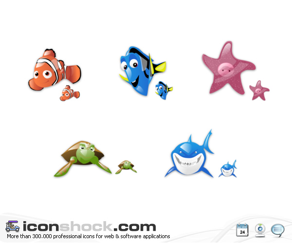 Finding Nemo vista icons