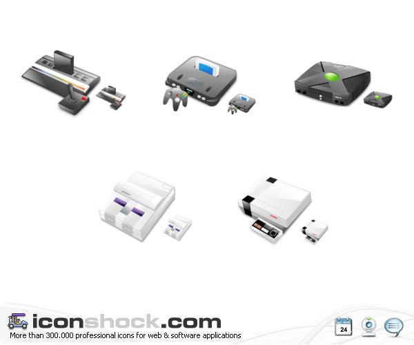 Consoles vista icons by Iconshock