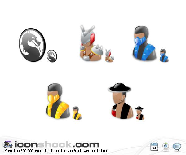 Mortal kombat Vista icons by Iconshock
