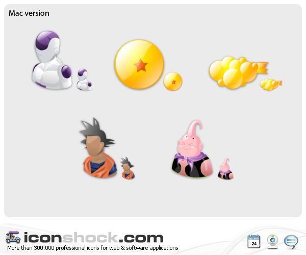 Dragon Ball Web Icons by Iconshock