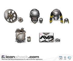 Alien vs Predator Vista Icons by Iconshock