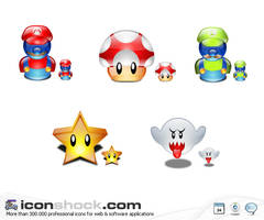 Super Mario Lumina Style Icons by Iconshock