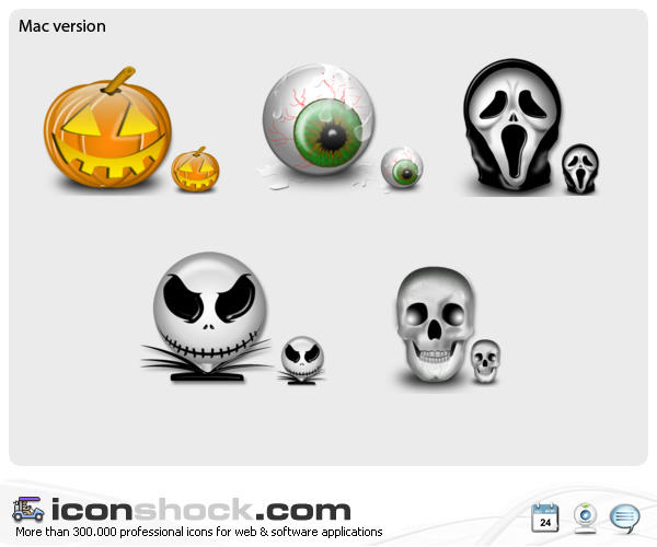 Halloween Vista Icons for MAC by Iconshock