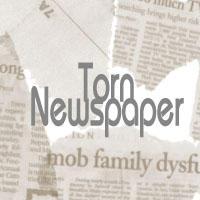 Torn Newspaper Brushes by splitadam17