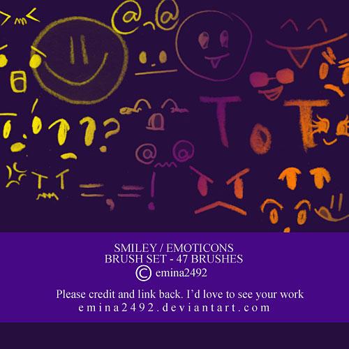 Smiley - Emoticons brush set by emina2492