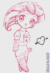 Jessie doodle [Pokemon] by SidselC