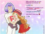 LOVE U -Serena and James [Pokemon] Glamourshipping by SidselC
