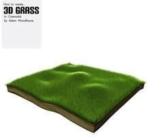 3d Grass in Cinema 4d by ardcor