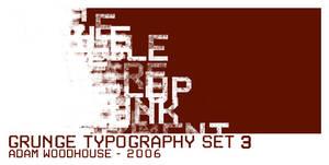 Grunge Typography set 3