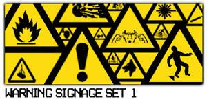 Warning Signage Set 1
