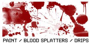 Paint Splatter Brush set 1