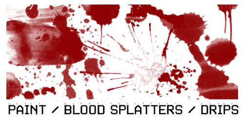 Paint Splatter Brush set 1 by ardcor