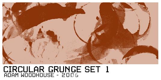 Circular Grunge Brush Set 1