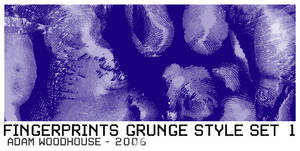 Fingerprint Grunge Set 1