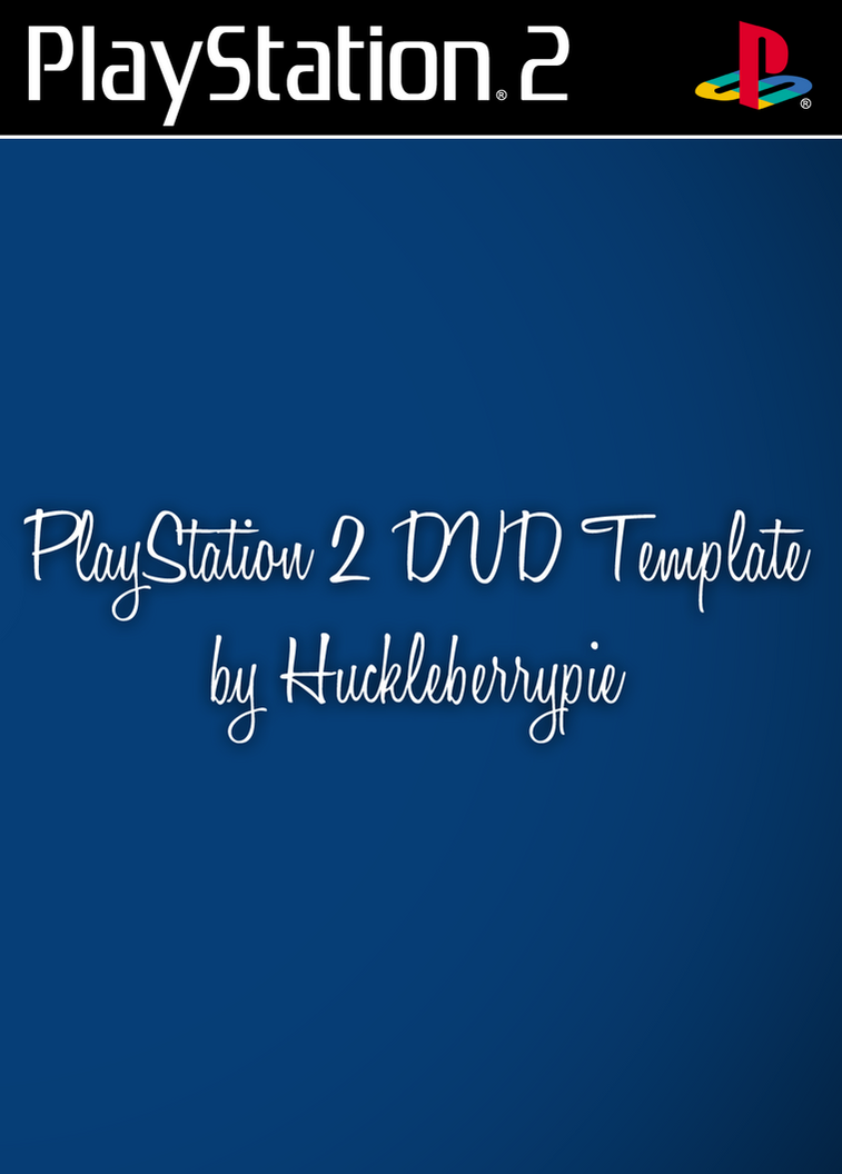 PlayStation 2 DVD Template by huckleberrypie on DeviantArt