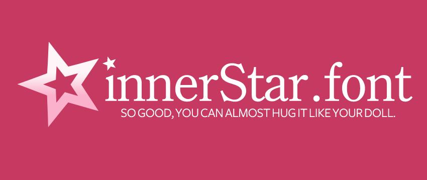 innerStar - American Girl font by huckleberrypie