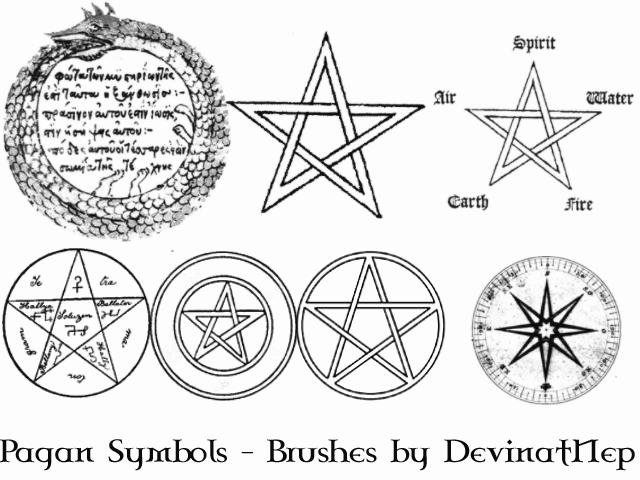 Pagan Symbols Brushes 4.0 by DeviantNep