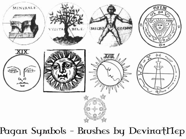 Pagan Symbols Brushes 6.0 by DeviantNep