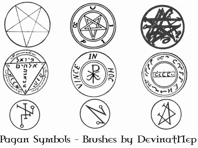 Pagan Symbols Brushes 70 By Deviantnep On Deviantart