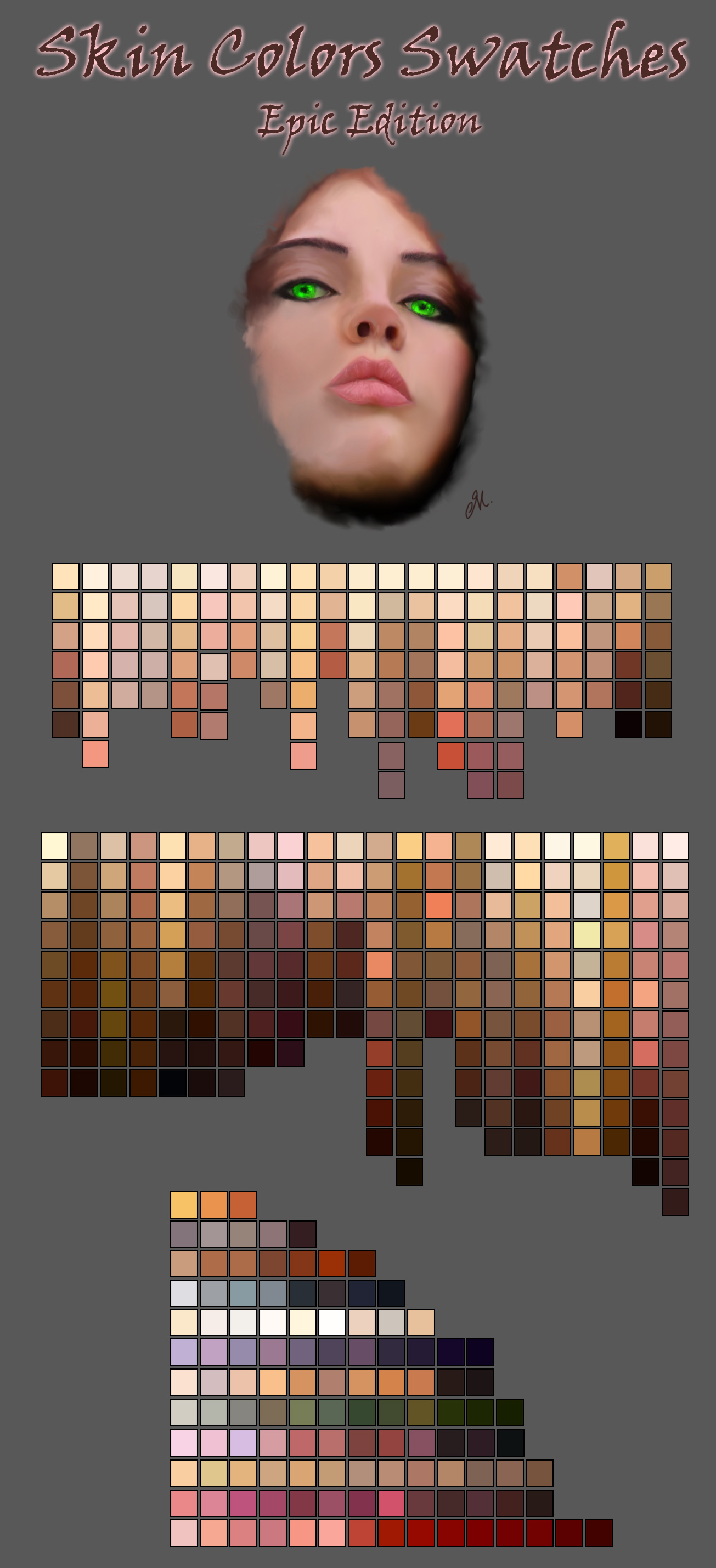 Skin Color Swatches