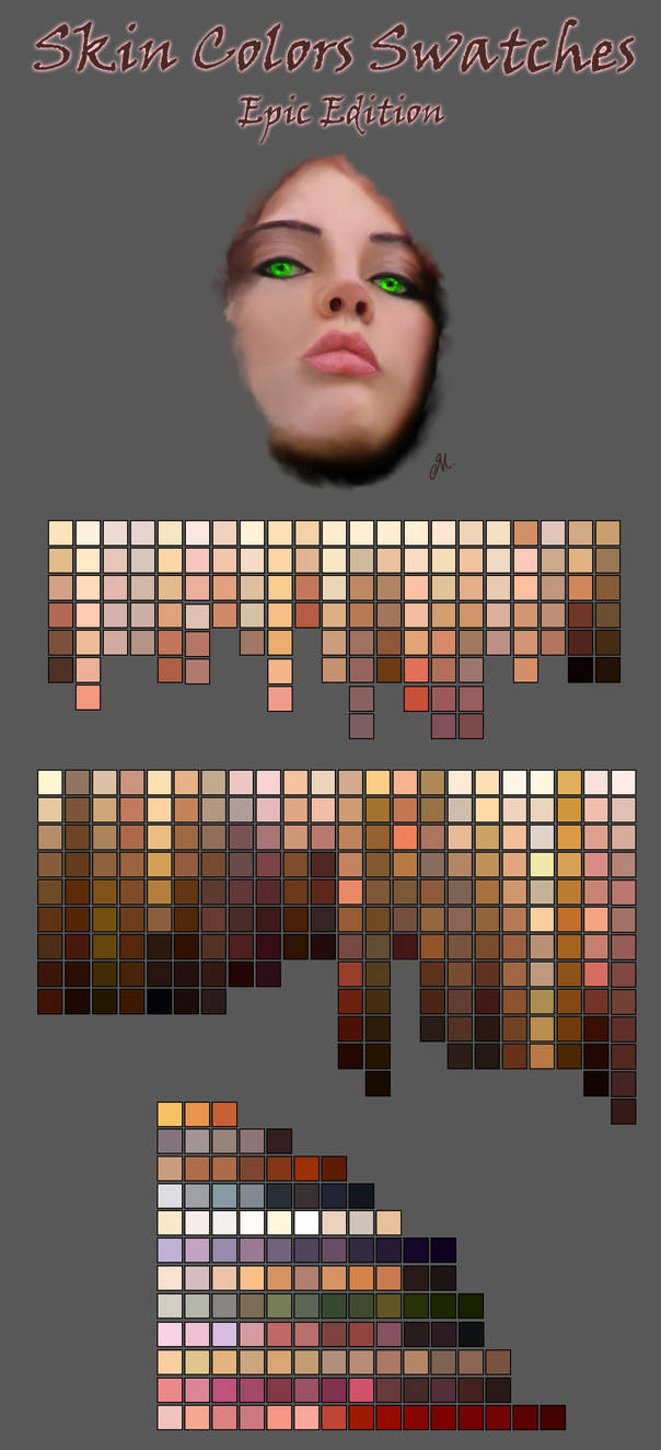 Skin Color Swatches by DeviantNep