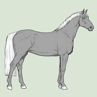 :Free Horse Lineart II: by Schn3e