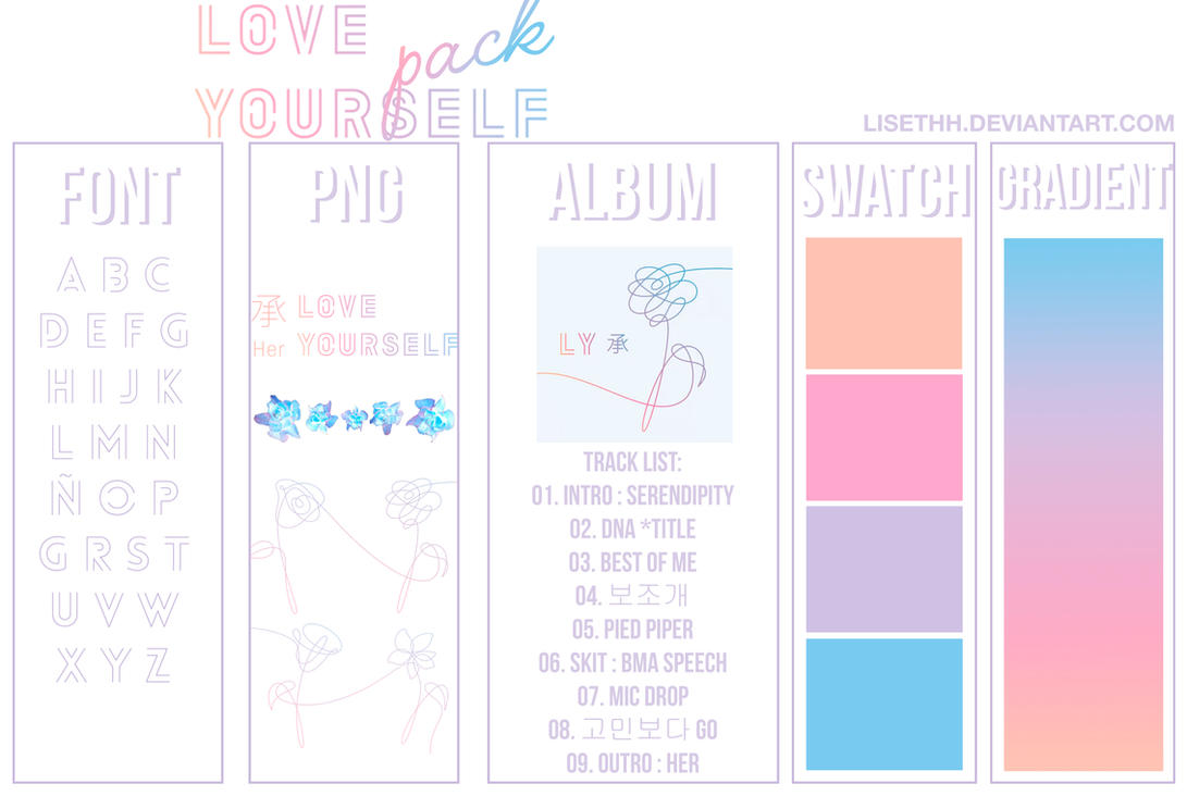 Bts Love Yourself Her Pack By Lisethh On Deviantart